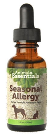 Animal Essentials Seasonal Allergy Offers support for seasonal allergies Maintains normal histamine levels Holistic, natural supplement Completely safe for cats and dogs Made in the USA . Available from www.carolesdoggieworld.com