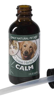 Available from www.carolesdoggieworld.com - Our Calm herbal blend is formulated to provide soothing support for dogs that are easily frightened or experiencing chronic anxiety.