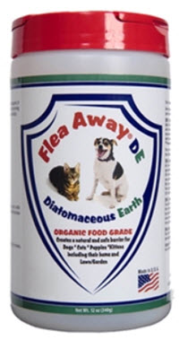 Natural, diatomaceous earth flea powder that safely eliminates fleas from your pets and home. Completely non-toxic, chemical-free, and odorless. Available from www.carolesdoggieworld.com