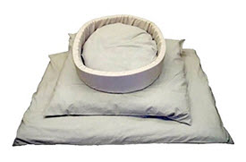 Treat your dog to an all natural, organic pet bed from www.carolesdoggieworld.com.