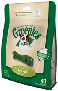 Greenies Dental Chews are available at www.carolesdoggieworld.com – they are perfect chews for stopping the build-up of both Plaque and Calculus (tartar) on dogs' teeth.