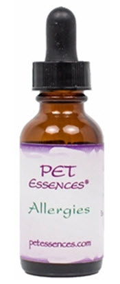 Pet Flower Essences available for Allergies from www.carolesdoggieworld.com - aids in clearing up allergies in dogs from food, grasses, pollens and pollutants in the environment