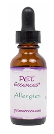 Pet Flower Essences available for Allergies from www.carolesdoggieworld.com - aids in clearing up allergies in dogs from food, grasses, pollens and pollutants in the environment.