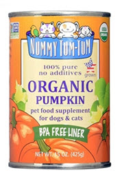 Use Nummy Tum Tum Pure Pumpkin or Sweet Potato on top of food, or as a treat on its own. Dogs love it and it helps support healthy digestion! Available from www.carolesdoggieworld.com