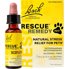 Pet Rescue Remedy for calming stressed dogs.